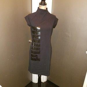 Puma mockneck bodycon dress