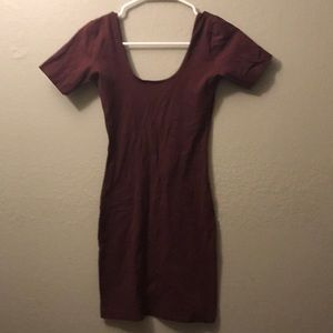 American Apparel Maroon Bodycon Dress