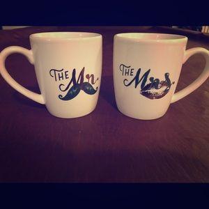 Mr. & Mrs. matching mugs