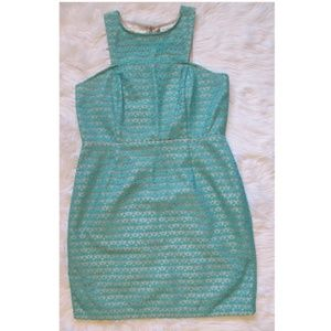 J. Taylor teal lace cocktail dress