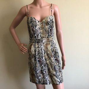 Naven Python Print Mini Dress