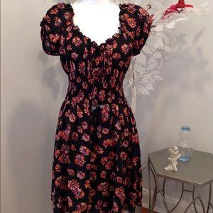 Peasant floral dress