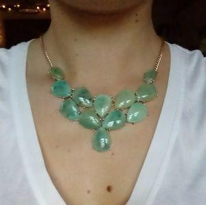 Seafoam green jade color necklace