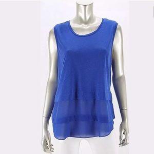 MICHAEL KORS $60 New Blue Sleeveless Top XL