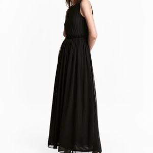 H&M maxi chiffon navy dress - US6