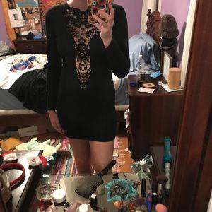 Black opened dress