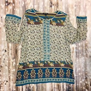 Lucky Brand floral patterned long sleeve top