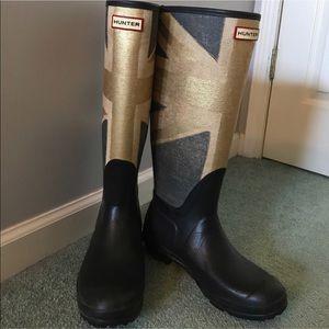 British Flag Hunter Boots