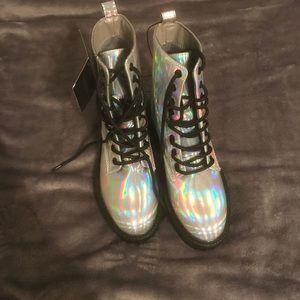 Iridescent boots