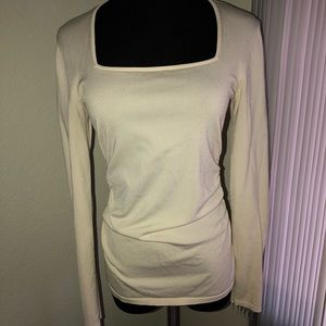 Ann Taylor Square Neck long sleeved blouse