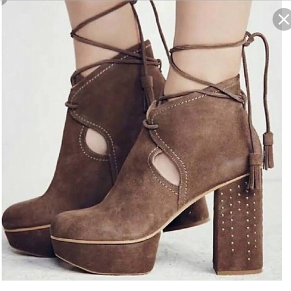 c3152cf621a1 Free People Shoes - Free People Constantine Wrap Platform Suede 37