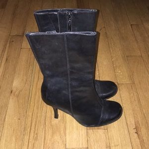 Shoes - Black Leather Boots!