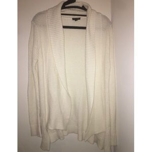 Express white cardigan