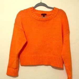 J. Crew Orange Cropped Sweater - Sz S