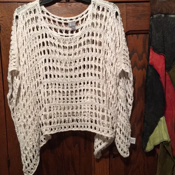 Converse Sweaters - Cotton Poncho Sweater