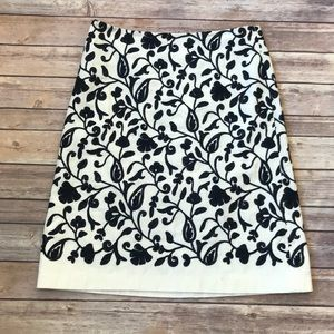 Talbots Embroidered Skirt