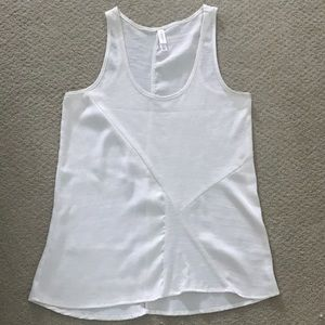 Silky and cotton white tank top
