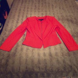 Bcbg folded panel crepe jacket