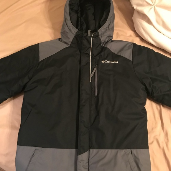 pretty cheap newest laest technology Boys Black and grey Columbia winter coat
