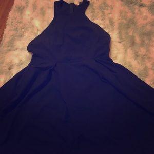 High neck, Side boob circle skirt dress
