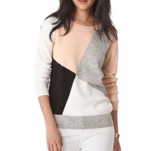 Madewell colorblock shifting sweater