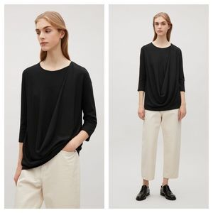 COS / Asymmetric drape Top