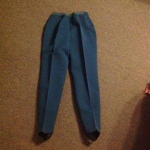 Vintage 50s High Waist Stretch Stirrup Pants S