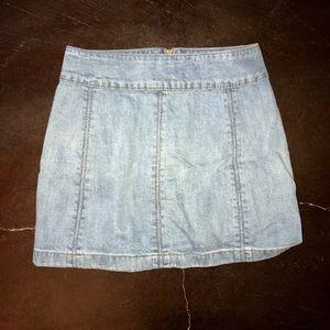 Free People Denim Skirt size 2