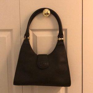 Dooney and bourke black leather shoulder bag