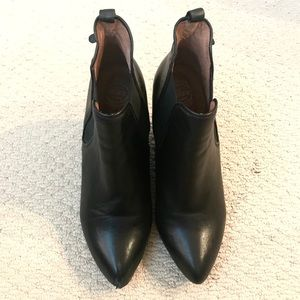 """Jeffrey Campbell 3.5"""" Black wedge boots"""