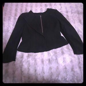 BCBG folded panel crepe jacket - blazer