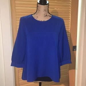 French Connection Hi Lo Blouse Size 6 Blue