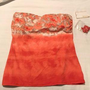 Michael Kors tube top with detachable straps