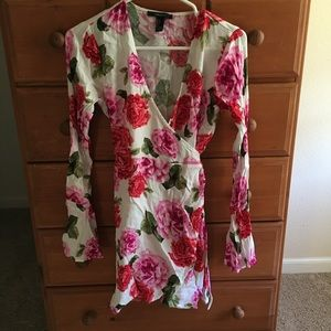 Forever21 Floral wrap around dress