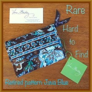 Vera Bradley Euro Java Blue trifold wallet NWT