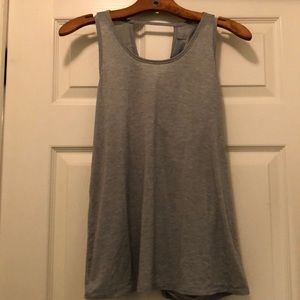 Athleta tie back tank. Small. Grey. Worn once!