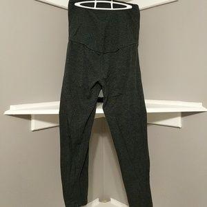 Gray Belly Panel Gap Maternity Leggings