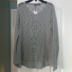 Detailed Grey Sweater