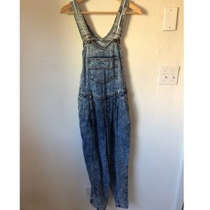 Vintage Acid Washed Overalls