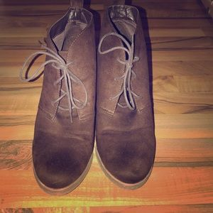 Dark brown booties
