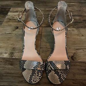 [Nordstrom] BP faux snakeskin sandals 3in heel