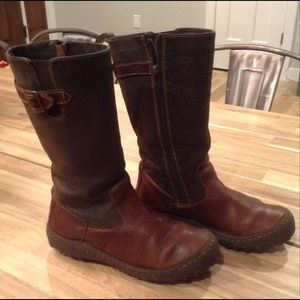 Born Leather Brown Boots, Size 7
