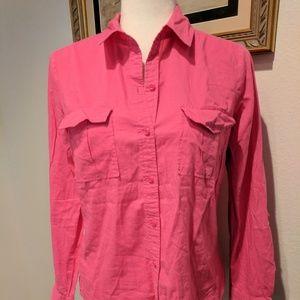 LOFT women's pink size small tab sleeve shirt