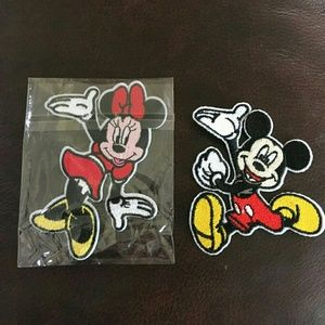 NEW Mickey & Minnie Mouse Patch Set w/Free Gift