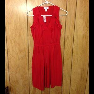 LOFT Red dress - 0 Petite