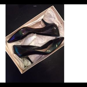 Loeffler Randall oil slick pumps.