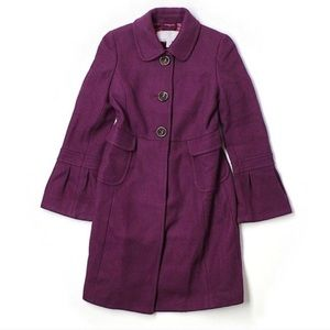 [Old Navy] Plum Colored bell sleeved pea coat