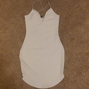 Strappy white bodycon dress