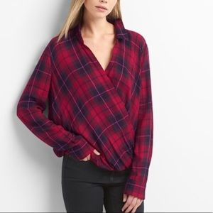 Brand new wrap blouse. From Gap
