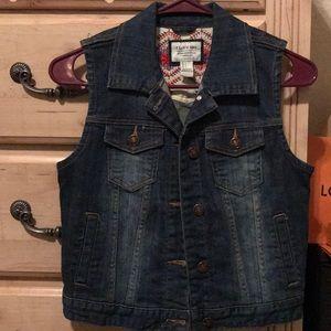 Brand new denim vest